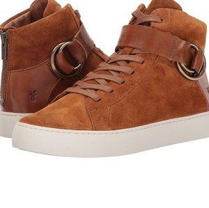 NWOT Frye Suede Lena Harness Sneakers Shoes 6.5